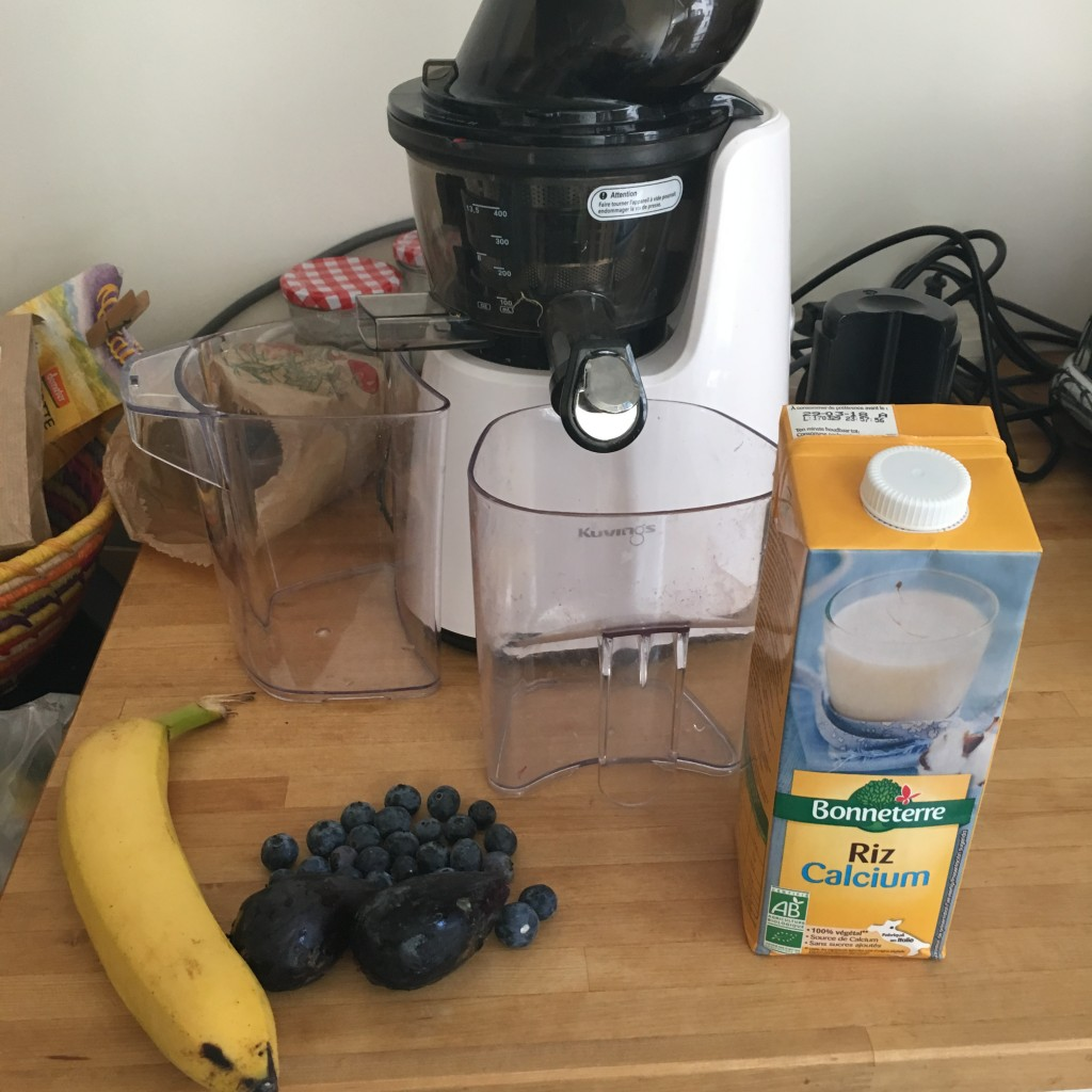 smoothie banane myrtille figue