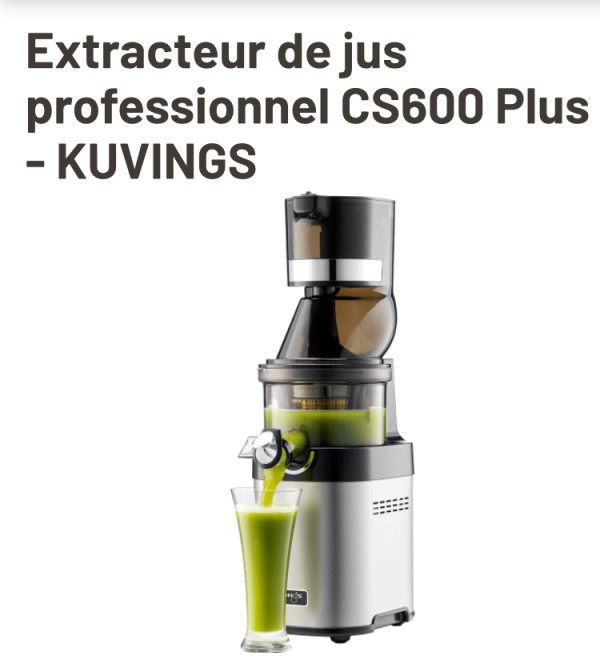 extracteur de jus professionnel Kuvings CS600